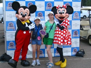 Girls at Disney Marathon
